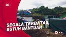 Suasana Pagi di Tenda Darurat Pengungsi di Mamuju