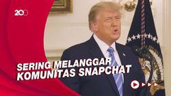 Sanksi Kericuhan Capitol, Snapchat Blokir Permanen Akun Donald Trump