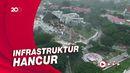 Melihat Dahsyatnya Dampak Gempa Sulbar dari Udara