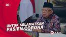 Wapres Maruf Amin Ajak Penyintas Corona Donor Plasma Konvalesen