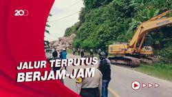 Sempat Tertutup Longsor, Akses Jalan Majene-Mamuju Sudah Bisa Dilintasi