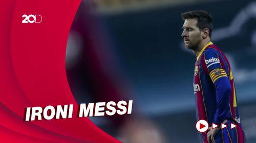 Detik-detik Messi Pukul Lawan dan Dikartu Merah