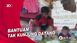 Bayi Kembar Tiga Hidup Memprihatinkan di Pengungsian Gempa Sulbar