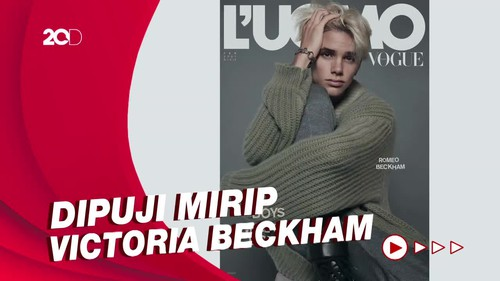 Penampilan Debut Romeo Beckham Jadi Model Sampul Majalah Vogue