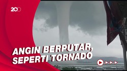 Angin Puting Beliung di Waduk Wonogiri Picu Kepanikan Warga