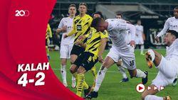 Haaland 2 Gol, Dortmund Tumbang di Kandang Gladbach