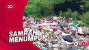 Joroknya Sampah di Akses Tol JORR Kalimalang Bekasi