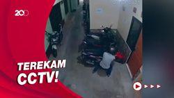 Aksi Pencurian Motor di Gang Sempit Terekam CCTV