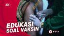 Aksi Teatrikal Gatot Koaca Jalani Vaksinasi di Solo
