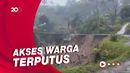 Detik-detik Jembatan di Cianjur Ambruk Karena Longsor