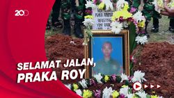 Haru! Momen Praka Anumerta Roy Vebrianto Dimakamkan di TMP Cikutra
