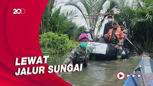 Bantuan CT ARSA Tembus Daerah Terisolir Pengungsi Korban Banjir di Kalsel