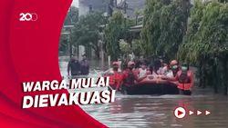 Jatibening Permai Bekasi Masih Banjir, Ketinggian Air Sempat 1 Meter!