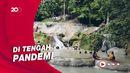 Wisata Air Terjun Moramo yang Ramai Dikunjungi Wisatawan