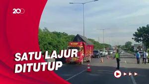 Ruas Tol Surabaya-Gempol Longsor, Truk Muatan Berat Dilarang Melintas