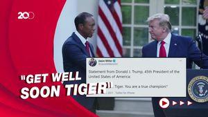 Doa Trump Untuk Pegolf Tiger Woods yang Kecelakaan