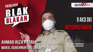 Wagub DKI Riza Patria Blak-blakan Cara Antisipasi Banjir