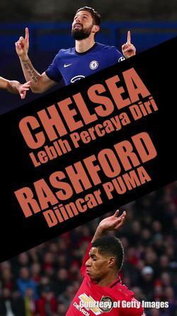 Chelsea Lebih Percaya Diri, Rashford Diincar Puma