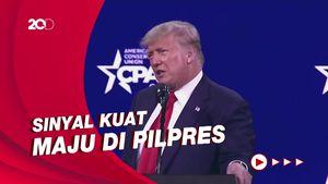 Donald Trump Kode Maju di Pilpres AS 2024