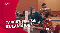 Suasana Vaksinasi Corona untuk Pelayan Publik di Bogor