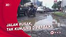 Bahaya! Jalur Utama Pantura Subang Tergenang dan Berlubang