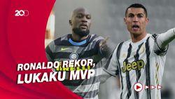 Ronaldo Ukir Rekor, Lukaku Jadi Pemain Terbaik Serie A Februari