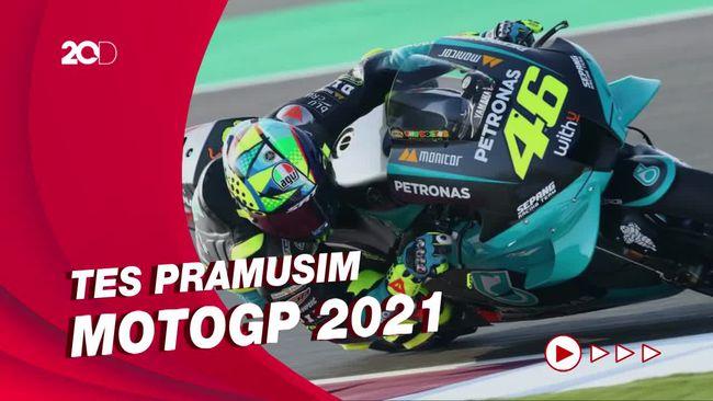 Aksi Joan Mir Hingga Valentino Rossi di 'Pemanasan' MotoGP 2021