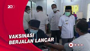 Gubernur Sulbar Pantau Langsung Vaksinasi untuk Pelayan Publik