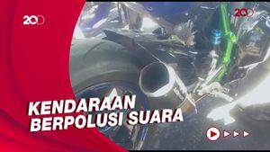 60 Kendaraan Terjaring Razia Knalpot Bising di Lembang