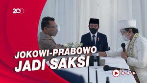 Momen Jokowi-Prabowo Jadi Saksi di Pernikahan Atta dan Aurel
