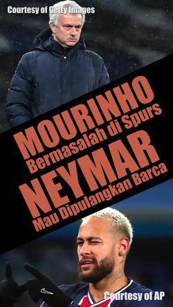 Mourinho Bermasalah di Spurs, Barca Mau Pulangkan Neymar