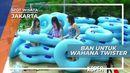 Ban-Ban Warna Warni Untuk Wahana Luncur Air Pantai Indah Kapuk Jakarta