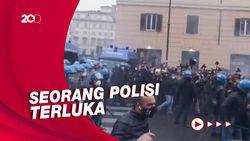 Aksi Protes Lockdown Demonstran Italia Berujung Bentrok