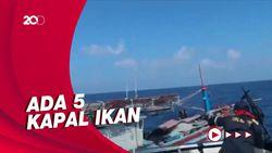 Detik-detik Kapal Vietnam Tepergok Curi Ikan di Laut Natuna Utara