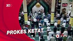 Suasana Salat Tarawih Pertama di Masjid Agung Ciamis