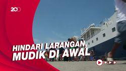 Tiba di Pelabuhan Nusantara Parepare, Ratusan Perantau Curi Start Mudik