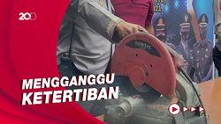 995 Knalpot Bising Hasil Razia di Kota Sukabumi Dimusnahkan