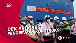 Luhut-Budi Karya Tinjau Depo Kereta Cepat Tegalluar Bandung