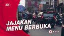 Tak Ada Bazar, Penjual Takji Tetap Berjualan di Sepanjang Jalan Benhil