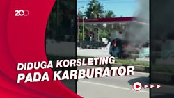 Korsleting, Mobil Angkutan Umum Terbakar di SPBU Kendari