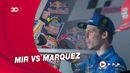 Baru Balapan Lagi, Marquez Sudah Seruduk Motor Joan Mir