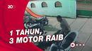 Terekam CCTV, Maling Bersarung Gondol Motor di Masjid Purwakarta