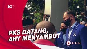 Presiden PKS Ahmad Syaikhu Temui AHY di DPP Demokrat