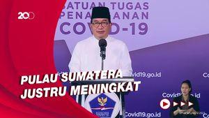 Angka Kontribusi Kasus Corona Pulau Jawa Turun, Sumatera Naik