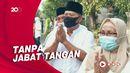 Potret Warga Semarang Halal Bihalal dengan Prokes