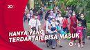 Suasana Membludaknya Pengunjung di Taman Margasatwa Ragunan