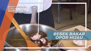 Nikmatnya Ketupat Beras Merah Beradu Lezatnya Bebek Bakar Opor Hijau, Surabaya