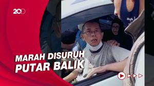 Ogah Diputar Balik, Pengendara Pelat B Ini Maki Petugas di Sukabumi