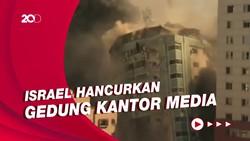 Hancurnya Gedung Kantor Media di Gaza Akibat Serangan Udara Israel