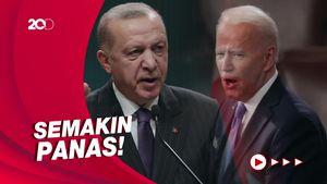 Erdogan Sebut Tangan Biden Berlumuran Darah, AS: Sikap Anti-Semit